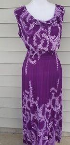 Weiduoyasilkdress Sleeveless Maxi Dress, L